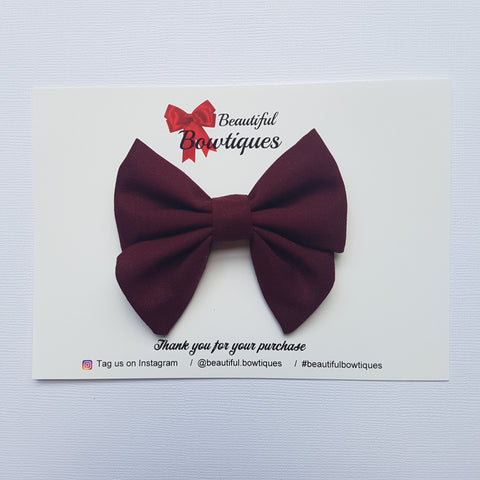 Sailor Bow Mini - Burgundy