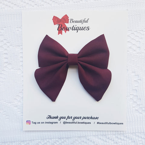 Sailor Bow - Burgundy