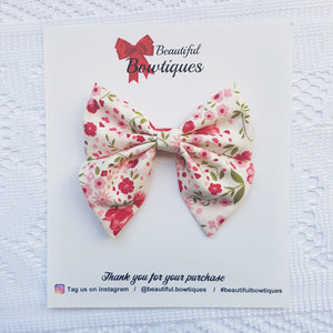 Sailor Bow - Cream floral