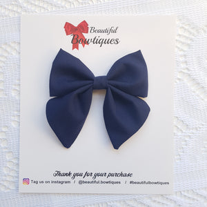 Sailor Bow - Navy