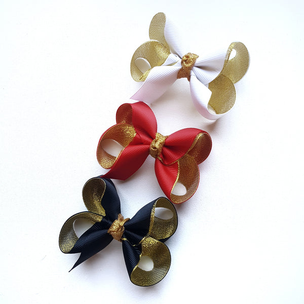 Gold Lined Boutique Bows - Small
