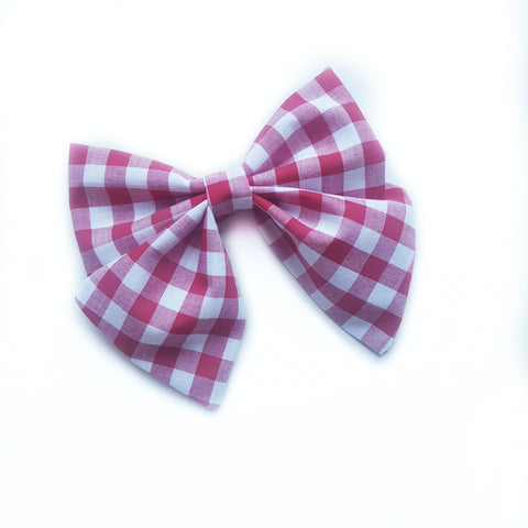 Sailor Bow / Red Gingham