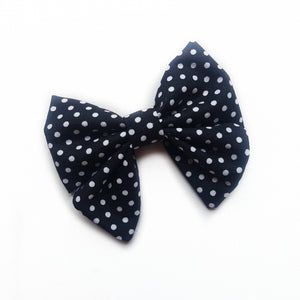 Sailor Bow Mini - Black polkadot