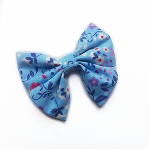 Sailor Bow Mini - Blue floral