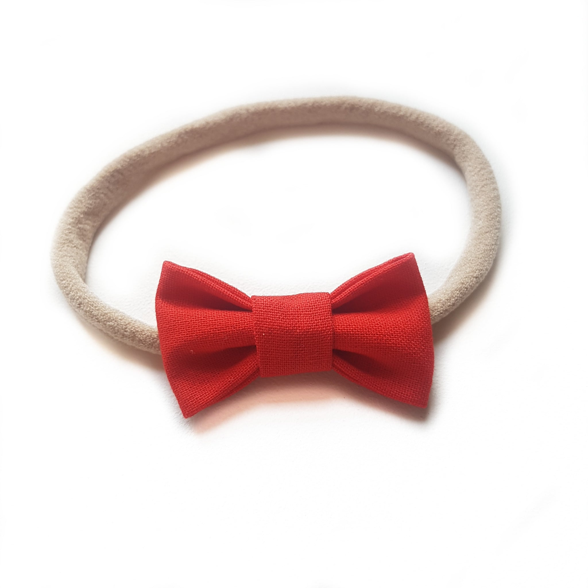 Fabric Bow Petite / Red