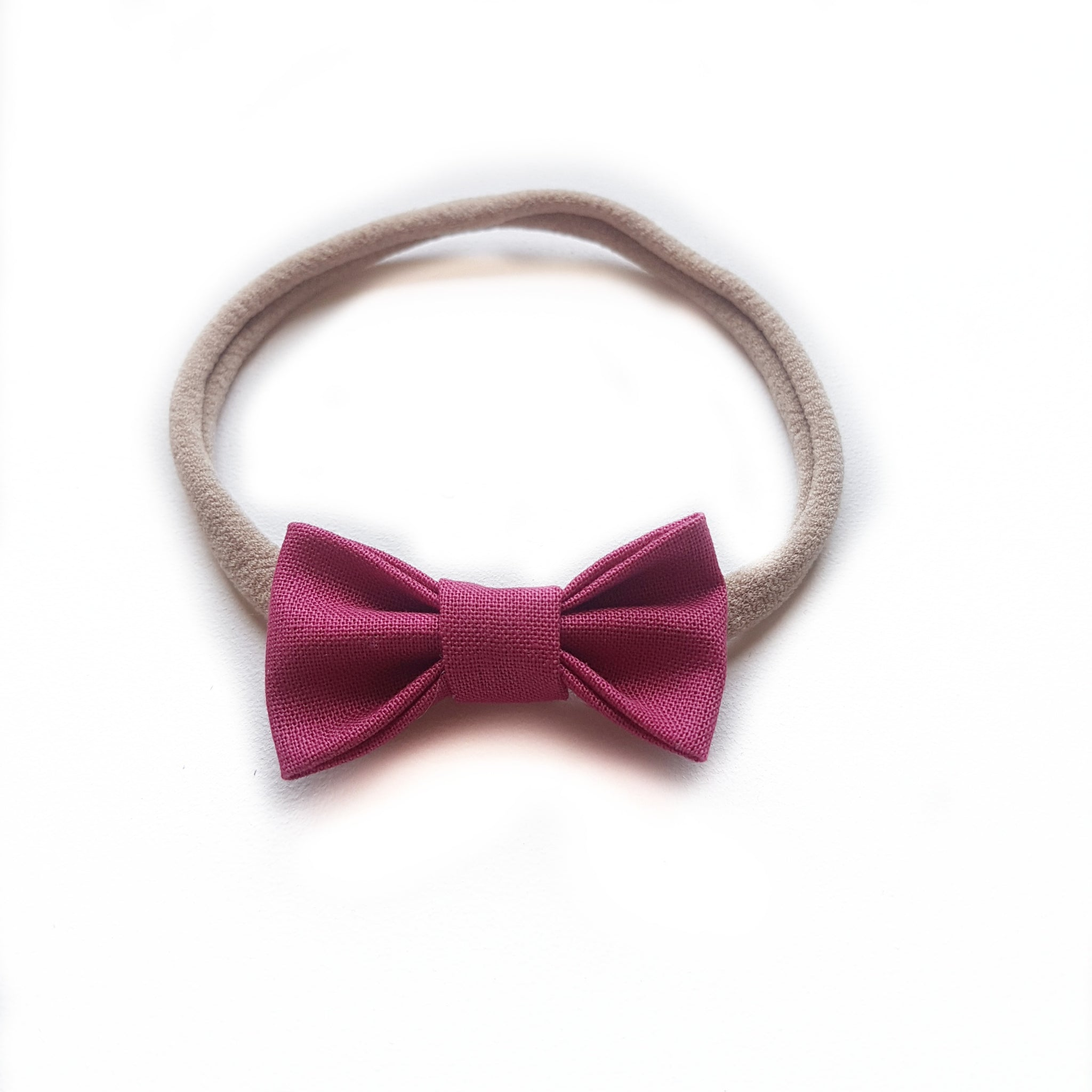 Fabric Bow Petite / Rose Pink