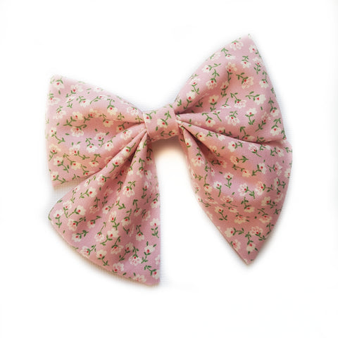 Sailor Bow / Pink Blooms