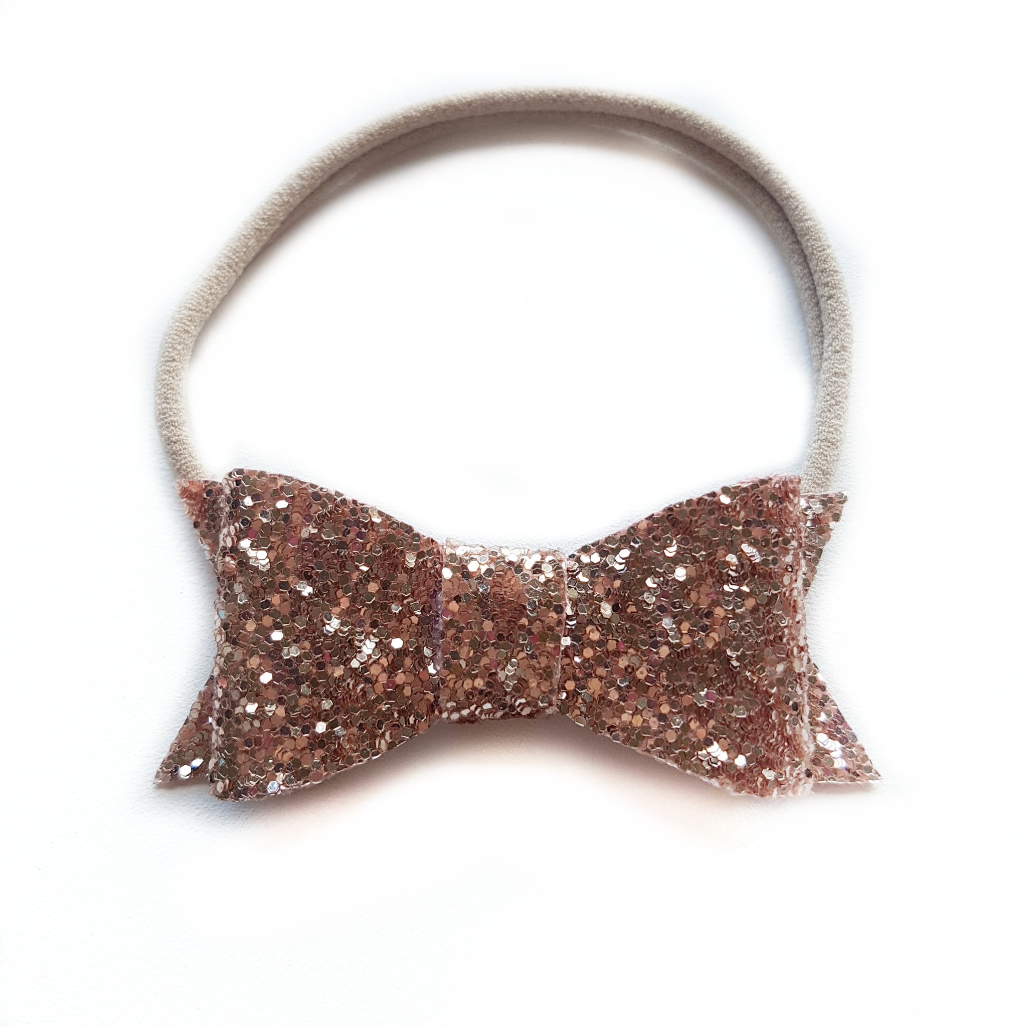 Audrey Bow / Rose Gold Glitter