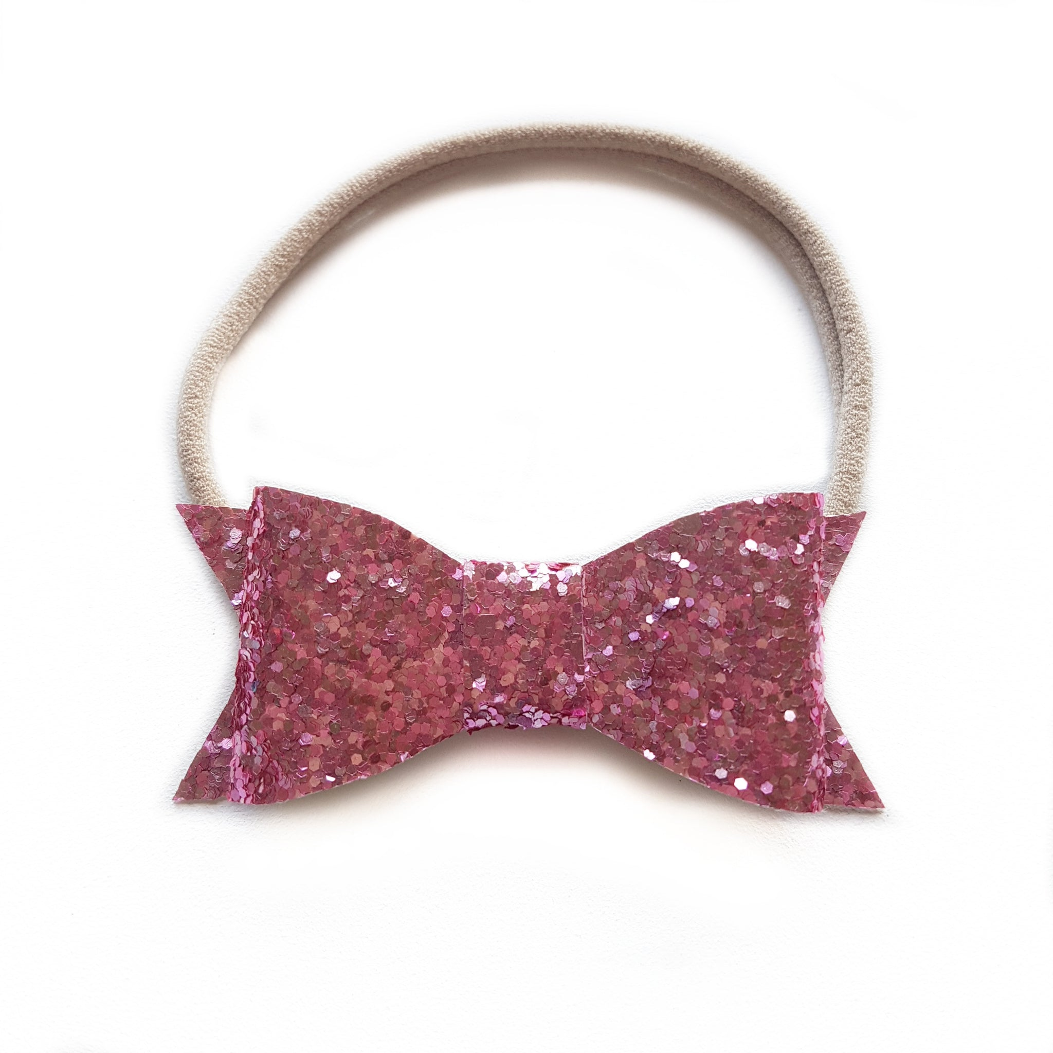 Audrey Bow / Rose Pink Glitter