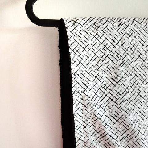 Monochrome - Bassinet/ Pram Blanket