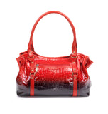 Zella Ash - Roze, Croc-embossed Leather Shoulder Bag