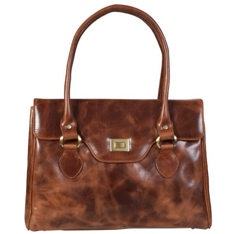 Office Style  Leather Shoulder Bag