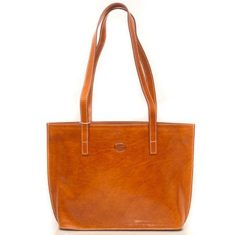 D'Anna light brown Leather Tote Shoulder Bag
