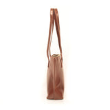 The D'Anna  Brown  Leather Tote Bag