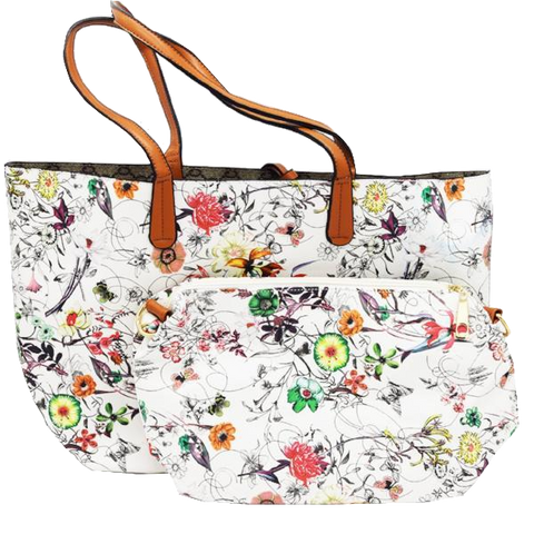 Floral fashion shoulder/tote bag