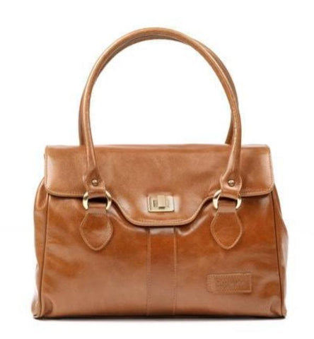 Zella Ash - The Abi, Conker Brown Leather Executive Workbag
