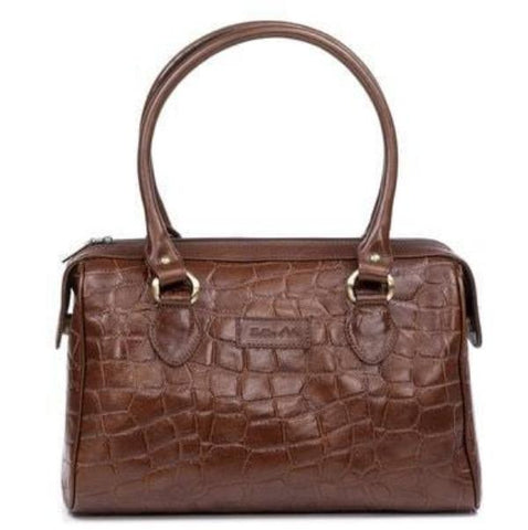 Zella Ash - Alicia, Croc Embossed Genuine Leather Handbag