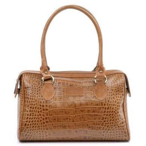 Zella Ash - Alisha, Croc Embossed Leather Shoulder Bag