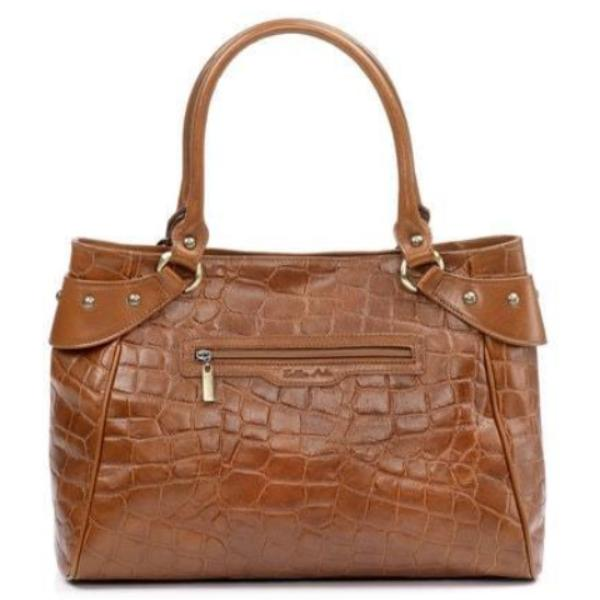Zella Ash - Madison, Crocodile Embossed Leather Handbag