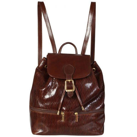 Genuine Leather Rucksack in brown