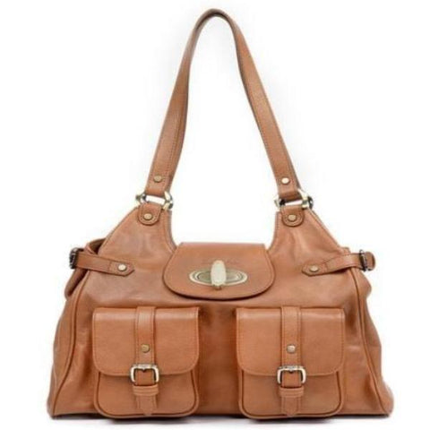Zella Ash -  Vida, Leather Cocker Brown/Tan Shoulder Bag