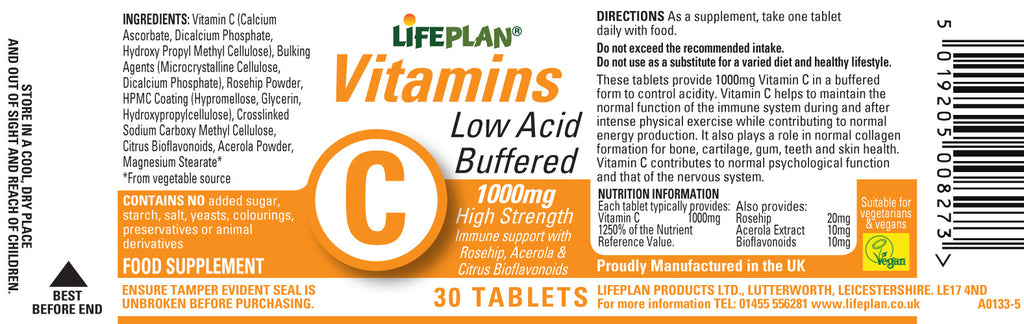 Vitamin C (Buffered) 1000mg 30 tablets