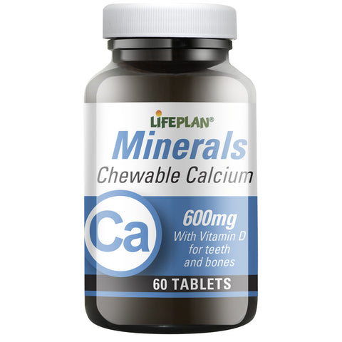 Chewable Calcium 600MG 60 Tablets