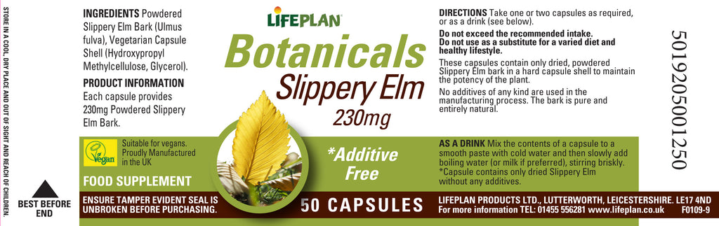 Slippery Elm 50 caps