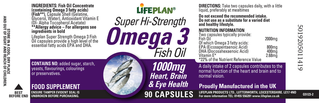 Super Hi-Strength Omega 3 Fish 90 Caps