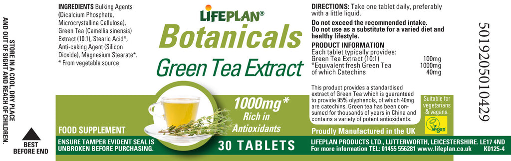 Green Tea Extract 30 Tabs