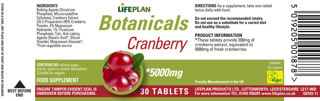 Cranberry Extract 30 tabs
