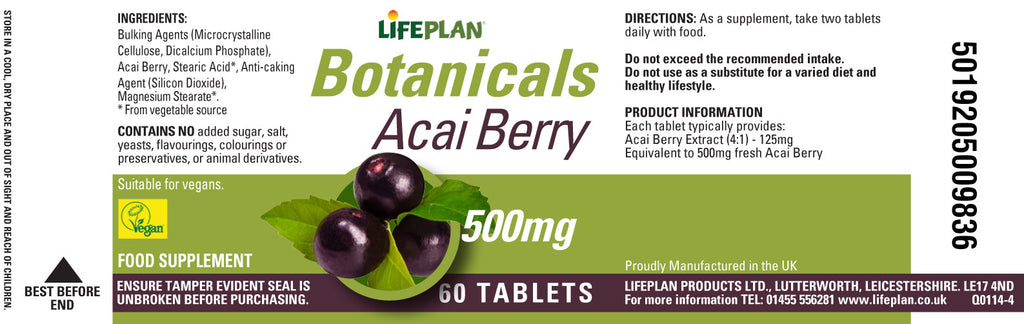 Acai Berry 500mg 60 Tabs