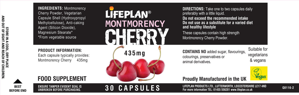 Montmorency Cherry 435mg 30 tabs
