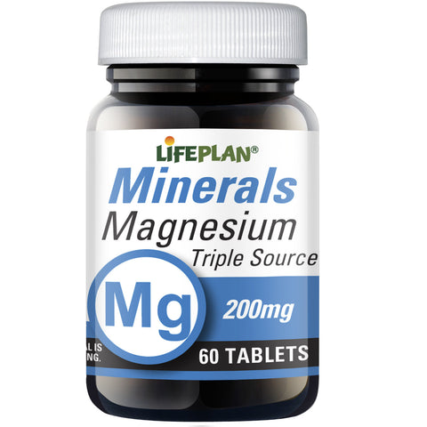 Magnesium Triple Source 200mg 60 tabs