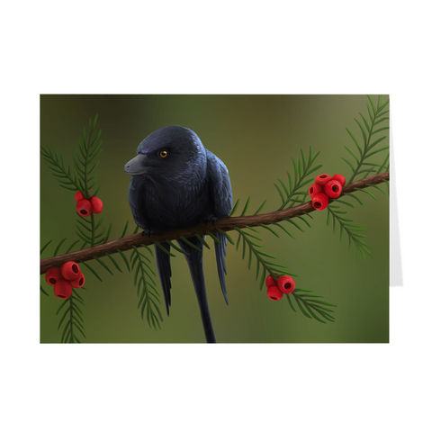 Microraptor holiday greeting card