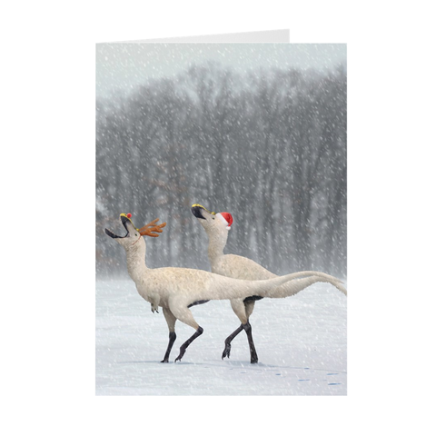Gorgosaurus holiday greeting card