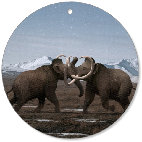 Woolly Mammoth canvas ornament