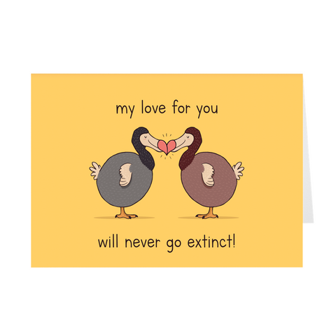 Valentine's Day Greeting Card - Dodos