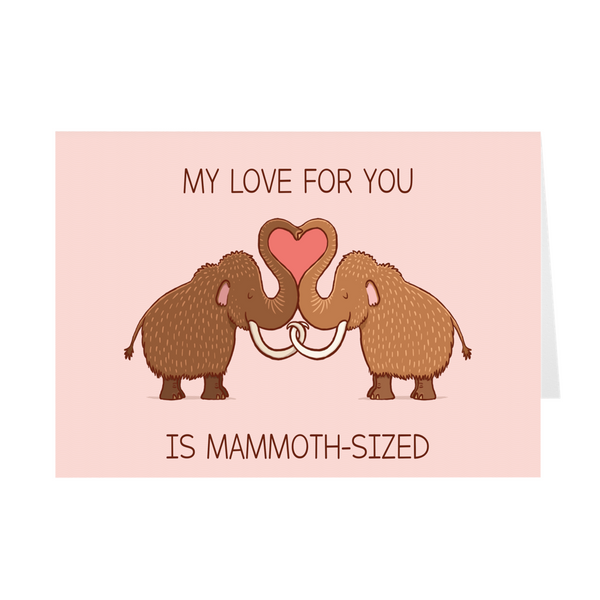 Valentine's Day Greeting Card - Mammoths