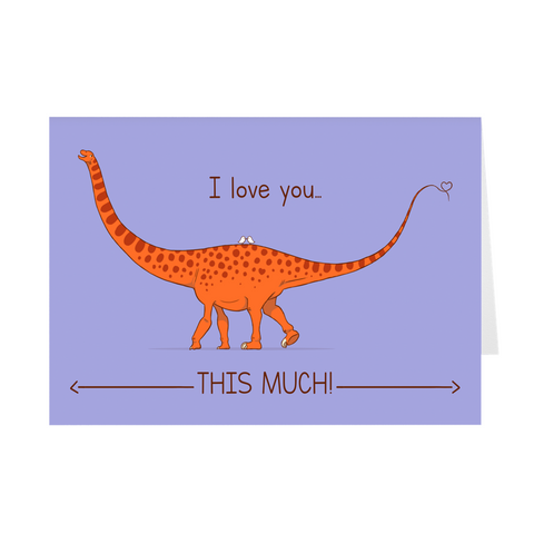 Valentine's Day Greeting Card - Sauropod