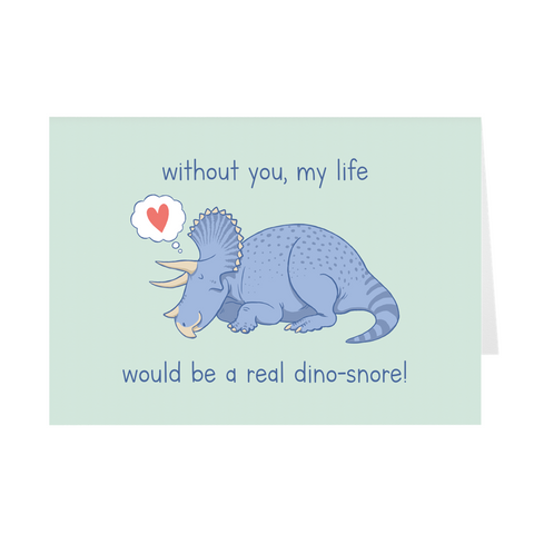Valentine's Day Greeting Card - Triceratops