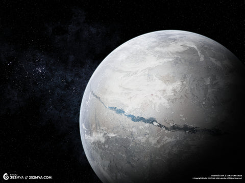 Snowball Earth Digital Wallpaper