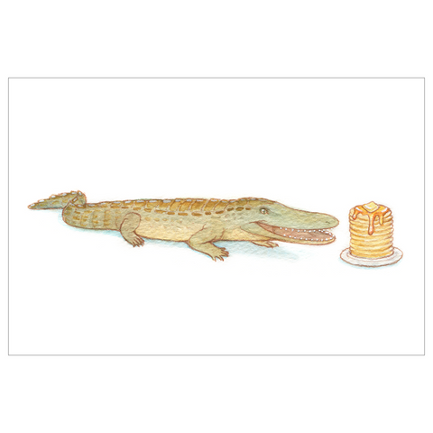 Laganosuchus pancake croc postcard with envelope