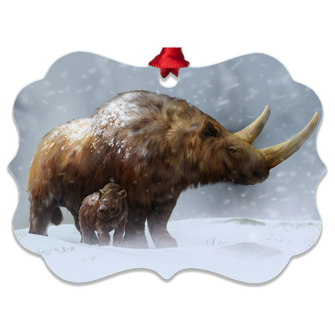 Woolly Rhino metal ornaments
