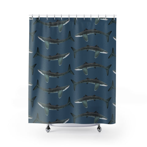 Cladoselache Devonian shark shower curtain