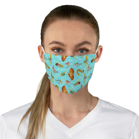 Monte Bolca Coral Reef Fish face mask