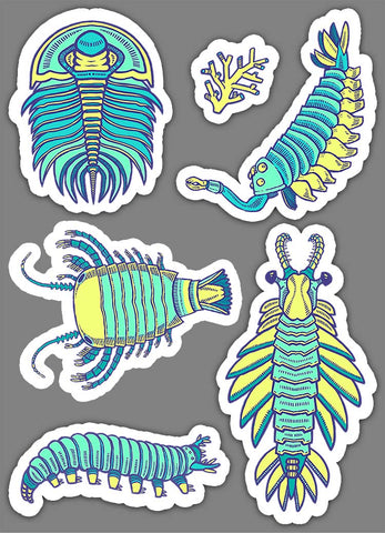 Cambrian Critters sticker set