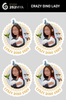 Crazy Dino Lady stickers