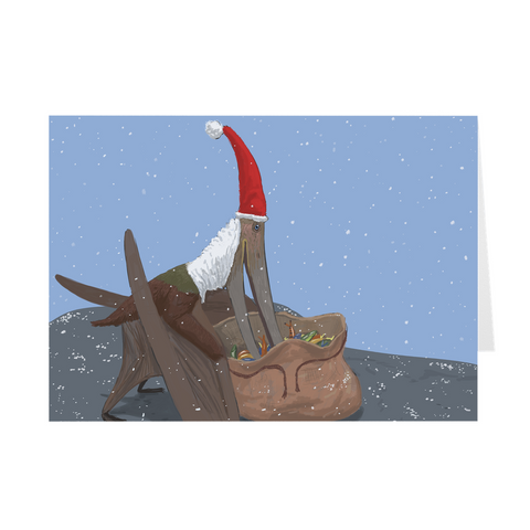 Pteranodon holiday greeting card
