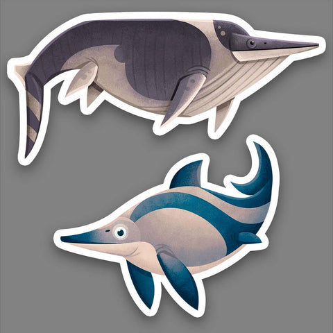 Triassic Ichthyosaurs stickers